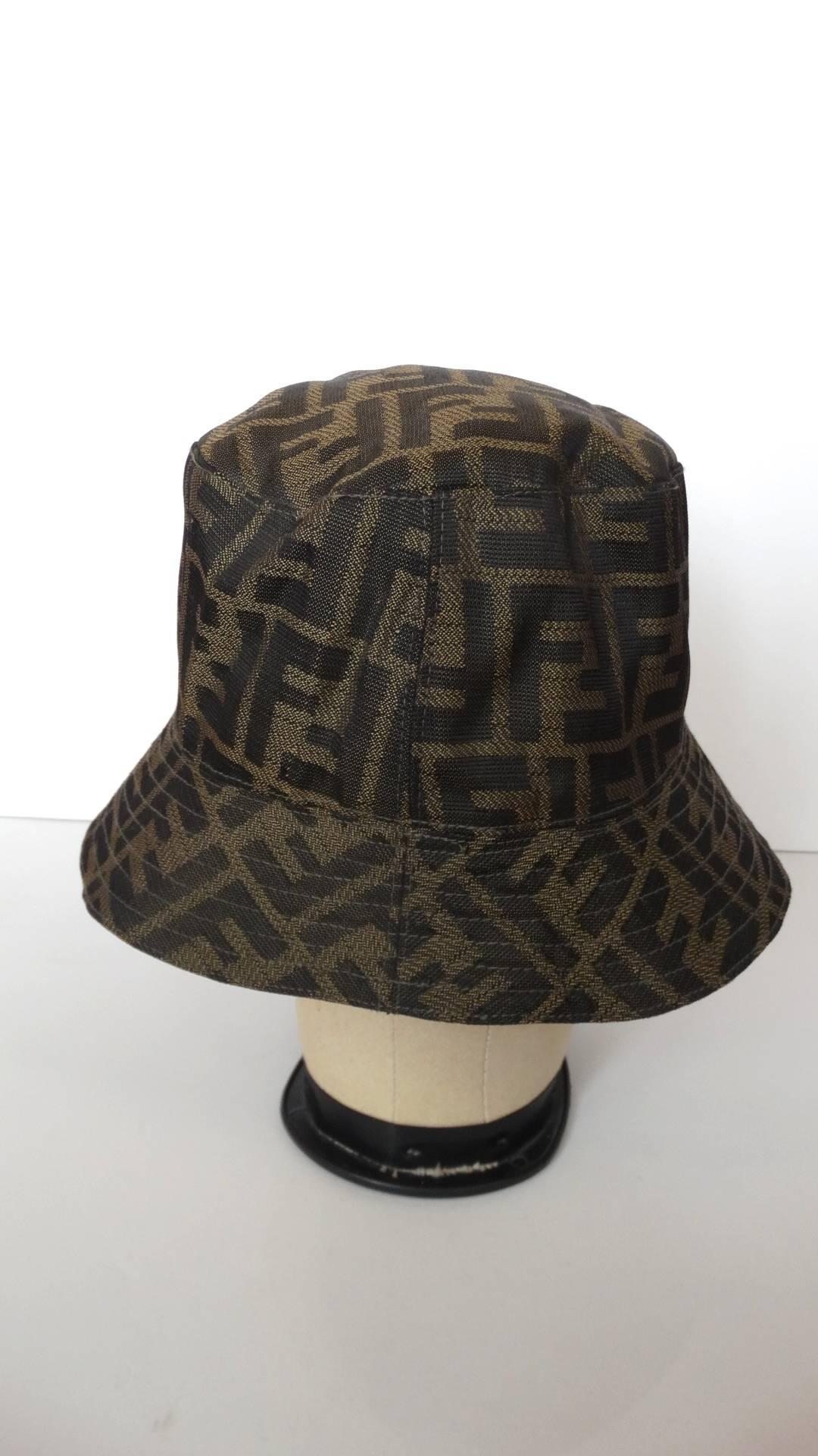 Fendi zucca monogram bucket hat at stdibs jpg 1500x2667 Fendi bucket hat 7d0662296309