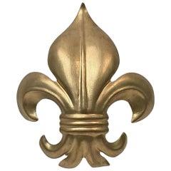 1990s Fleur-de-Lis Wall Sconce with Gold Leaf, Quantity Available