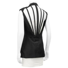 1990's Gaultier Silk Double Breasted Cage Back Vest