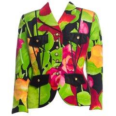 1990S Gemma Kahng Fran Drescher Floral Blazer Jacket