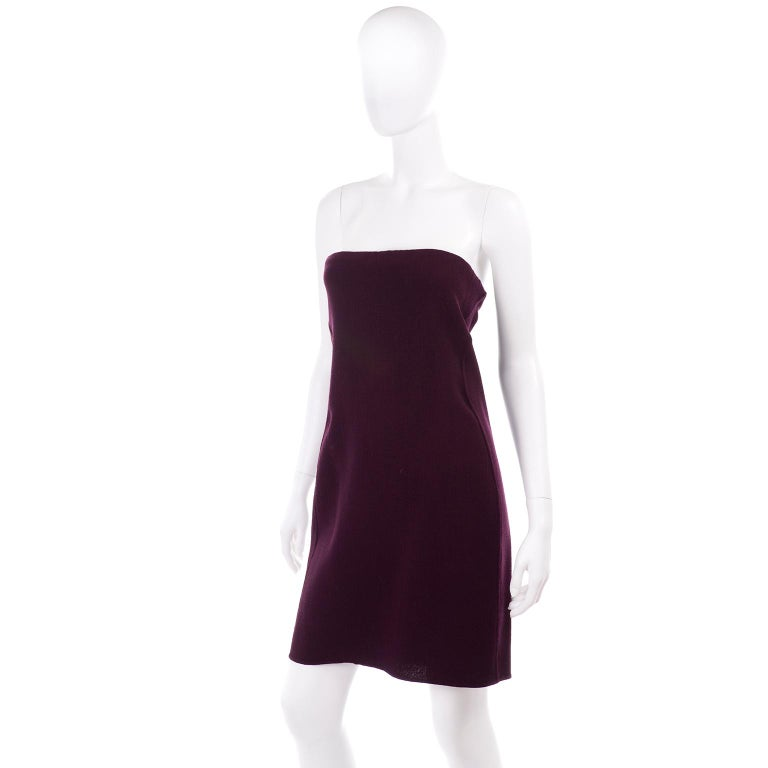 This is an absolutely stunning vintage Geoffrey Beene monochromatic dress and coat ensemble in a gorgeous burgundy wool and alpaca fabric. We love vintage Geoffrey Beene pieces and always grab them whenever we come across them. This outfit includes