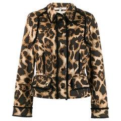 1990s Gianfranco Ferré Animalier Print Jacket