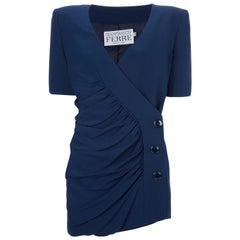 1990s Gianfranco Ferré Blue Skirt Suit