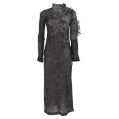 1990s Gianfranco Ferré Grey Furry Dress
