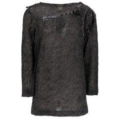 1990s Gianfranco Ferré Grey Furry Sweater