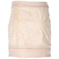 1990s Gianfranco Ferrè Ivory Astrakhan Fur Skirt