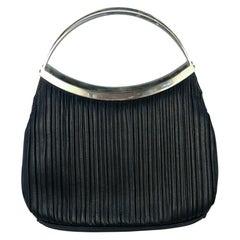 1990s Gianni Versace Black Leather Handbag