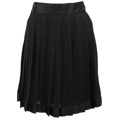 1990s Gianni Versace Black Silk Chiffon Skirt
