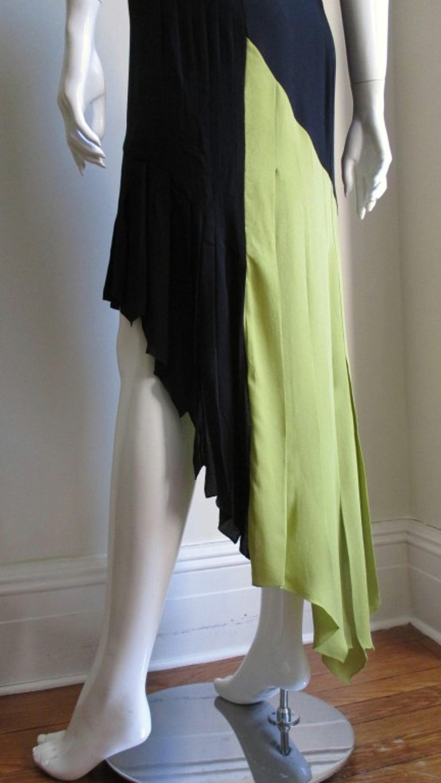 1990s Gianni Versace Color Block Bustier Dress For Sale 6