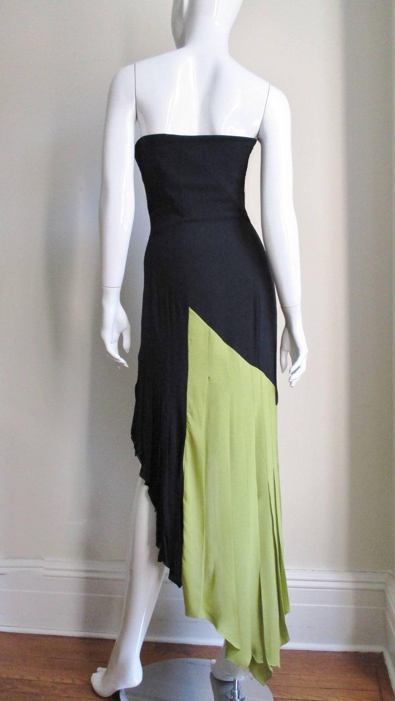 1990s Gianni Versace Color Block Bustier Dress For Sale 7