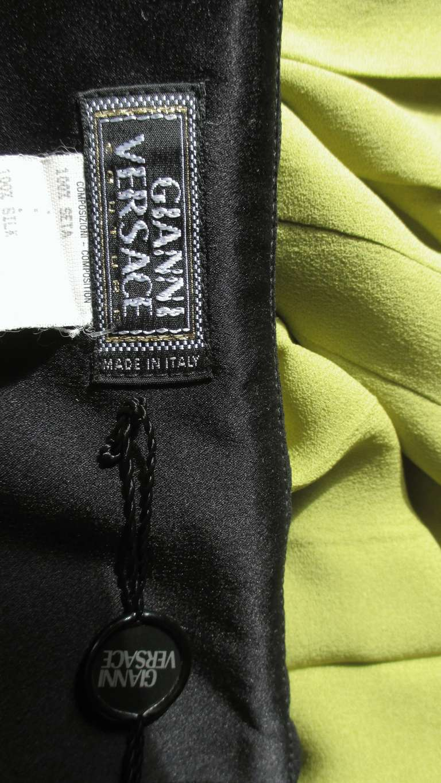 1990s Gianni Versace Color Block Bustier Dress For Sale 8