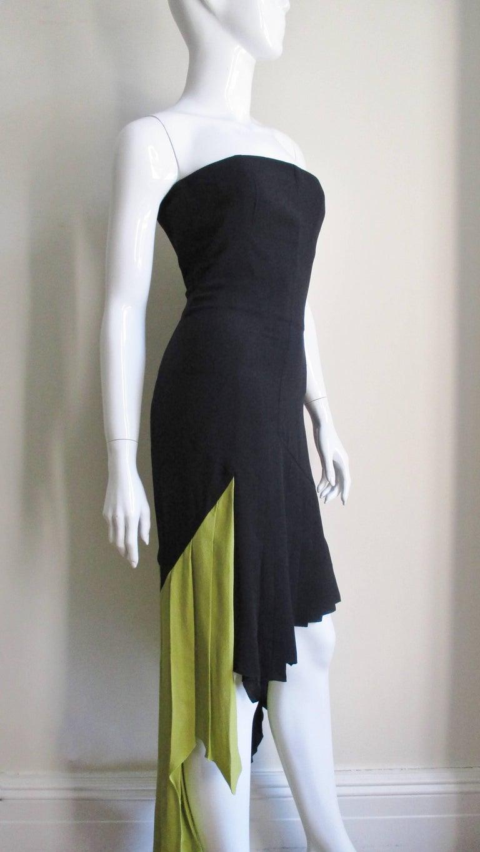 Women's 1990s Gianni Versace Color Block Bustier Dress For Sale