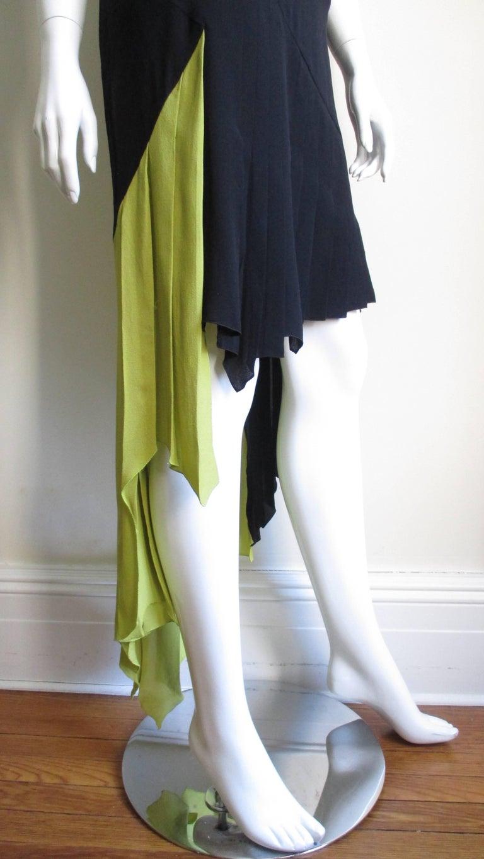 1990s Gianni Versace Color Block Bustier Dress For Sale 1