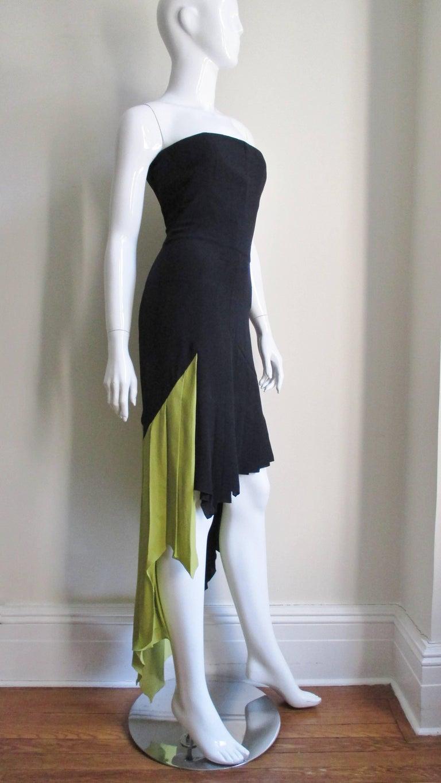 1990s Gianni Versace Color Block Bustier Dress For Sale 2
