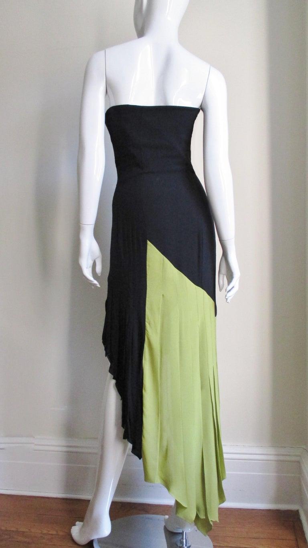 1990s Gianni Versace Color Block Bustier Dress For Sale 3