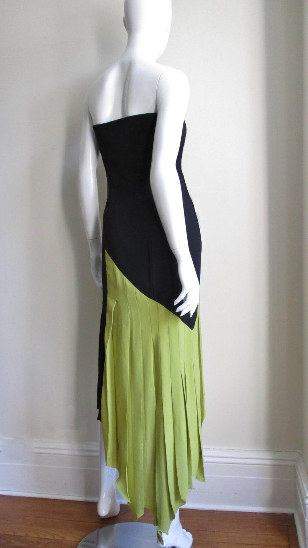 1990s Gianni Versace Color Block Bustier Dress For Sale 4