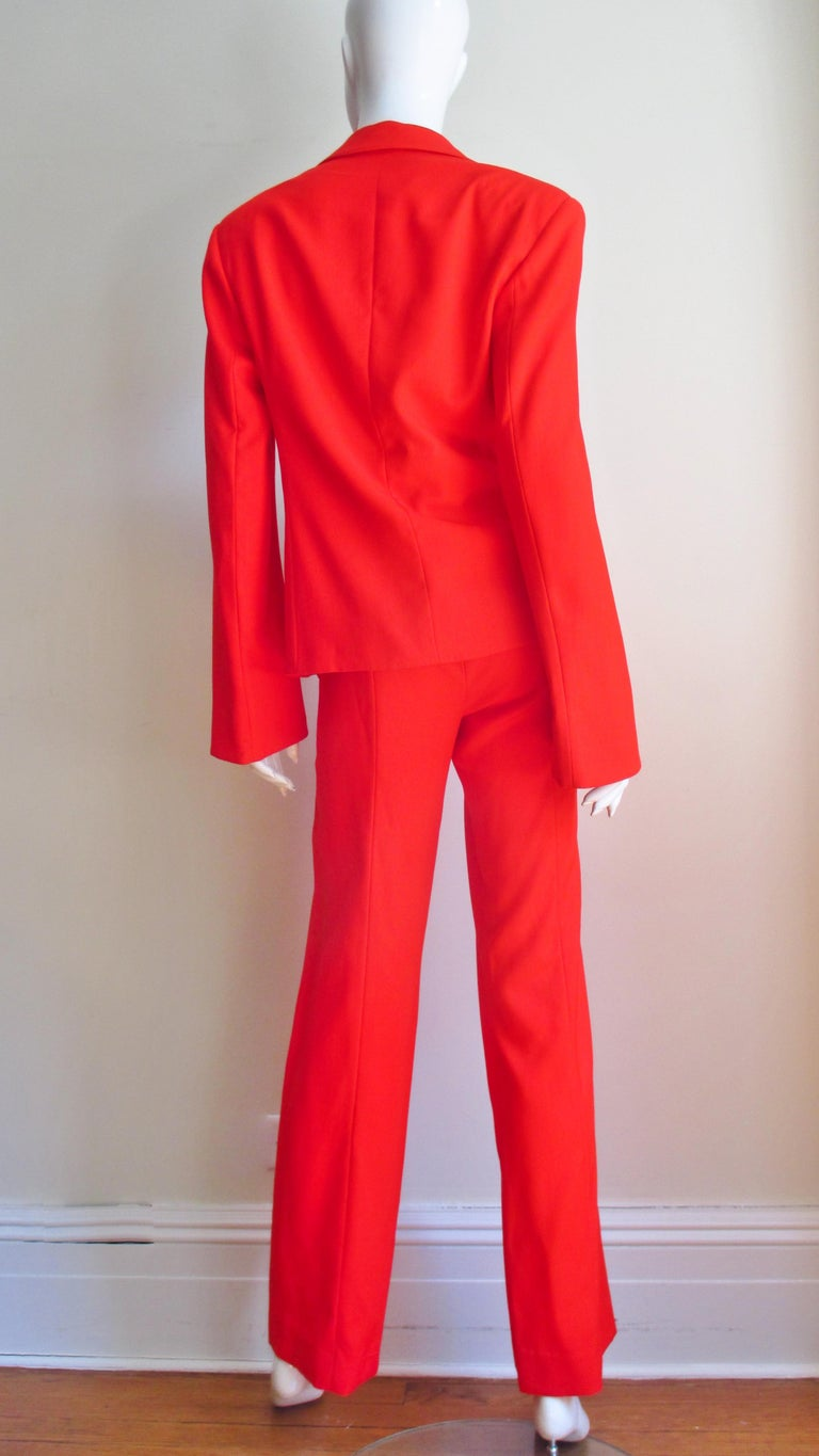 Gianni Versace Couture New Suit with Cut outs 1990s For Sale 4
