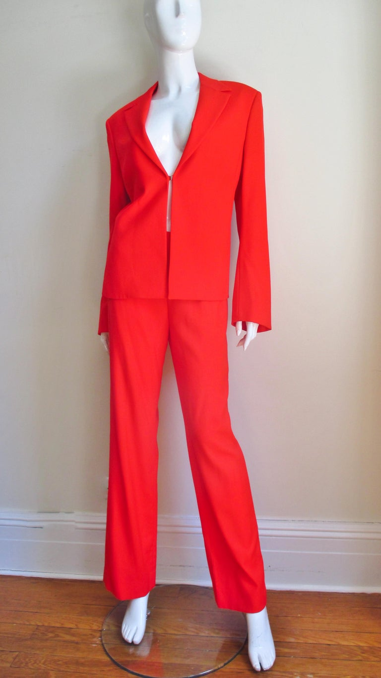 Gianni Versace Couture New Suit with Cut outs 1990s For Sale 2