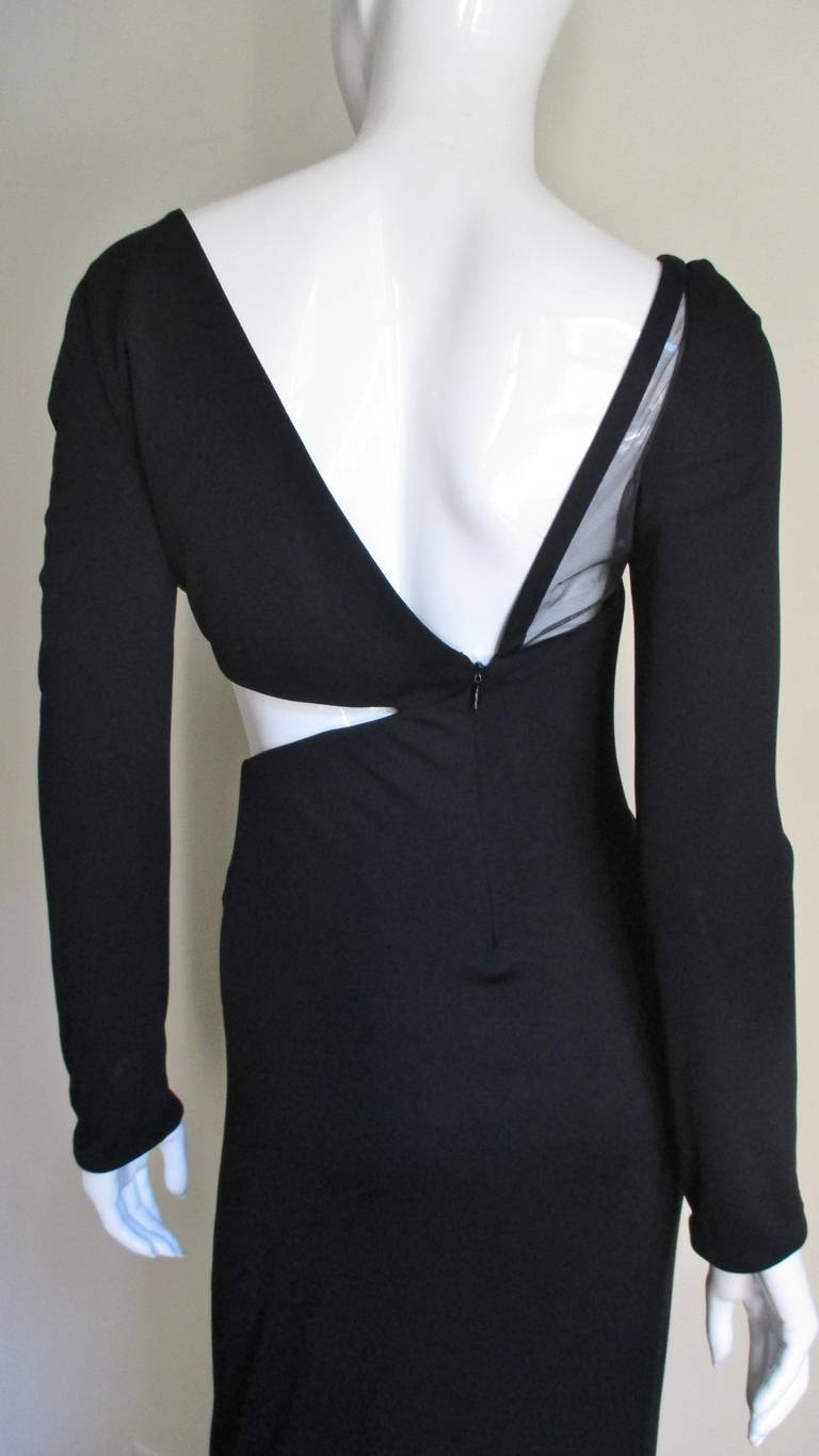 1990s Gianni Versace Cut Out Dress with Hardware For Sale 5