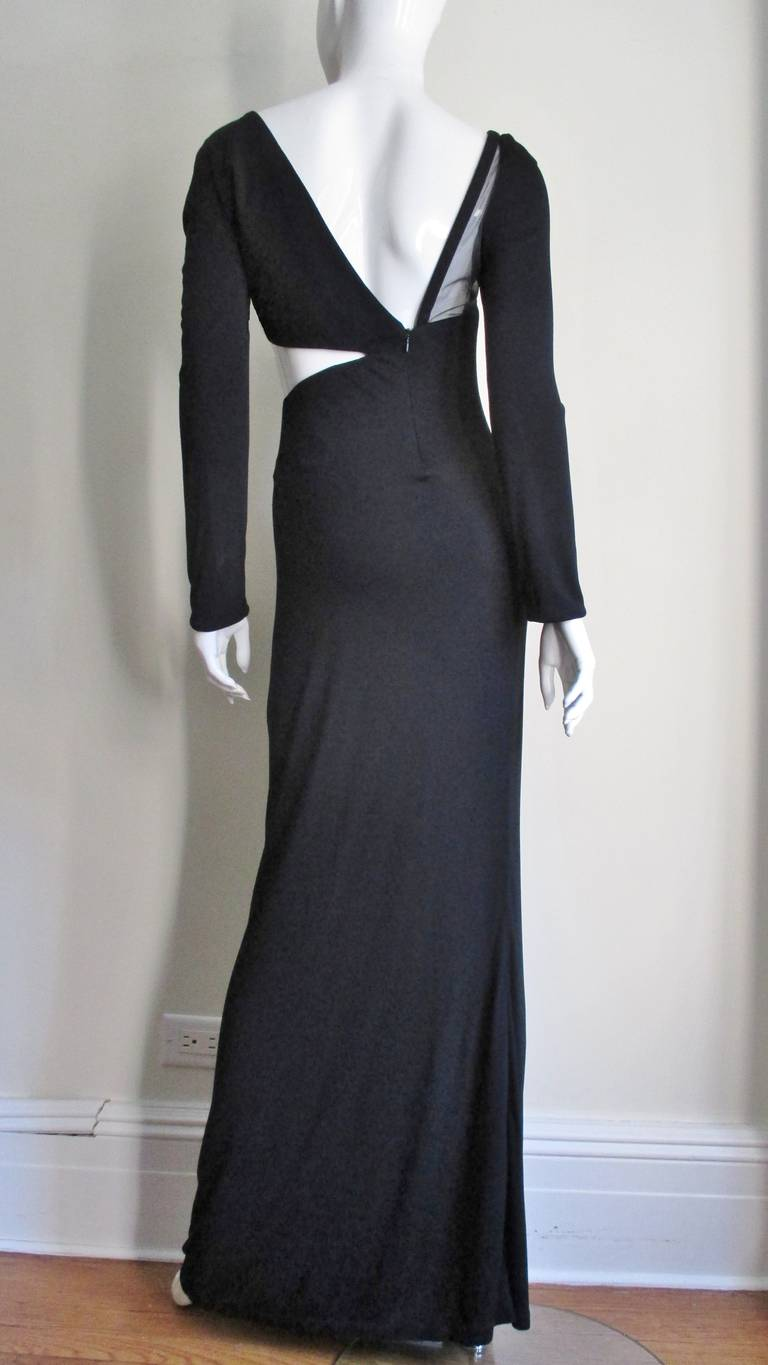 1990s Gianni Versace Cut Out Dress with Hardware For Sale 4