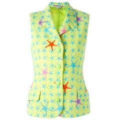 1990s Gianni Versace Fancy Starfish Print Vest