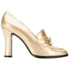 1990s Gianni Versace Golden Pumps