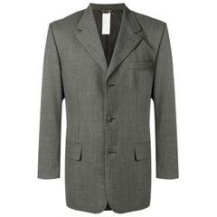 1990s Gianni Versace Grey Wool Jacket