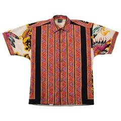 1990s Gianni Versace Jeans South Beach Stories Native American Shirt