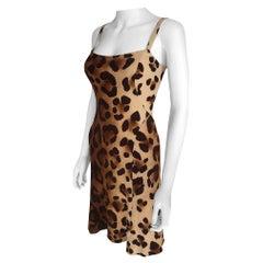 1990's Gianni Versace Leopard Dress Small