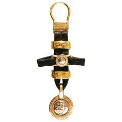 1990s Gianni Versace Medusa Medallion Key Ring