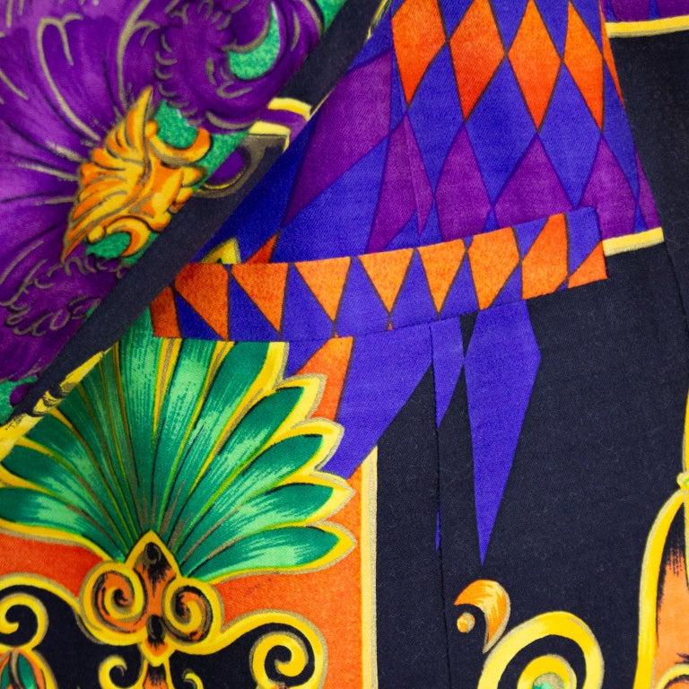 1990s Gianni Versace Multi Colour Baroque Print Jacket  For Sale 1