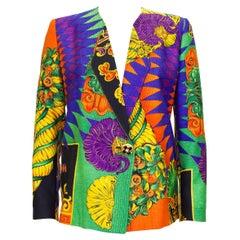 1990s Gianni Versace Multi Colour Baroque Print Jacket