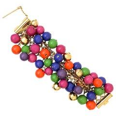 1990s Gianni Versace multicoloured beaded bracelet