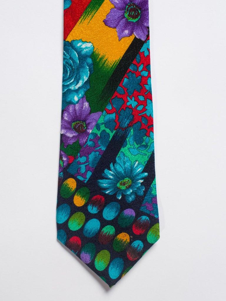 1990s Gianni Versace Silk Tie For Sale 2