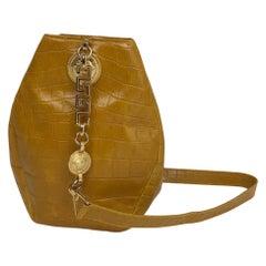 1990's Gianni Versace yellow bucket bag Medusa head