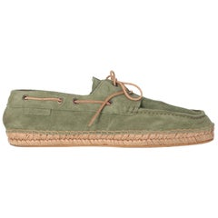 1990s Giorgio Armani Green Suede Boat Shoes