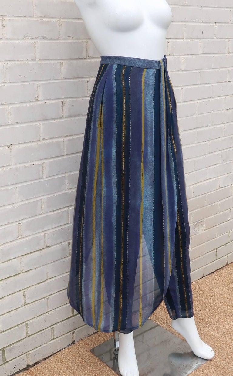Women's 1990's Giorgio Armani Sheer Silk Harem Sarong Style Pants For Sale