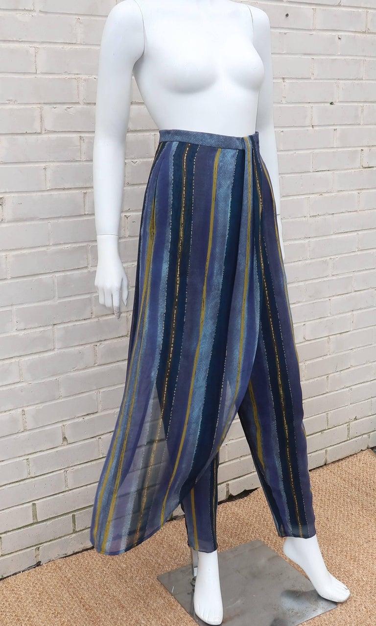 1990's Giorgio Armani Sheer Silk Harem Sarong Style Pants For Sale 1