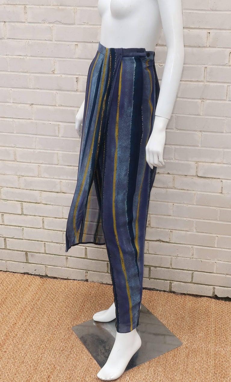1990's Giorgio Armani Sheer Silk Harem Sarong Style Pants For Sale 2