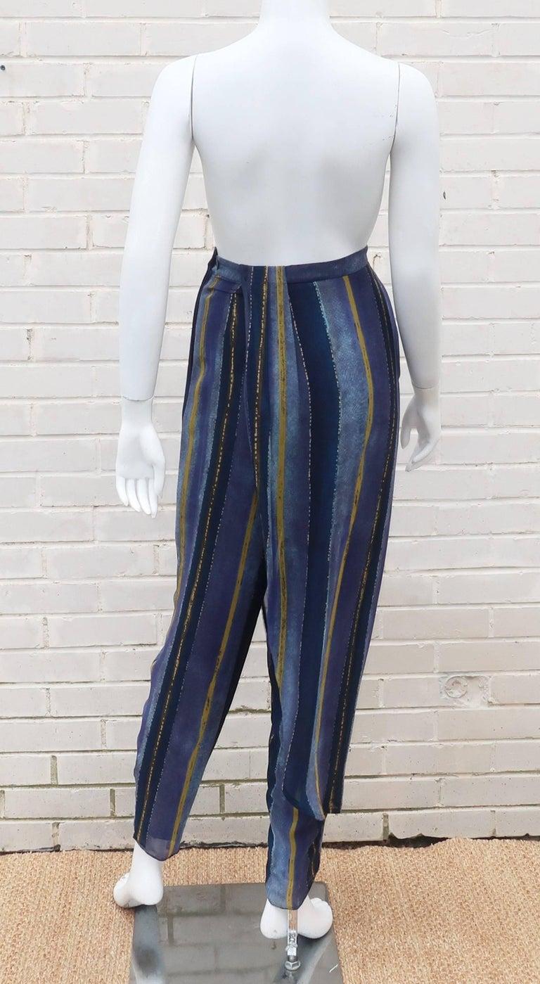 1990's Giorgio Armani Sheer Silk Harem Sarong Style Pants For Sale 3