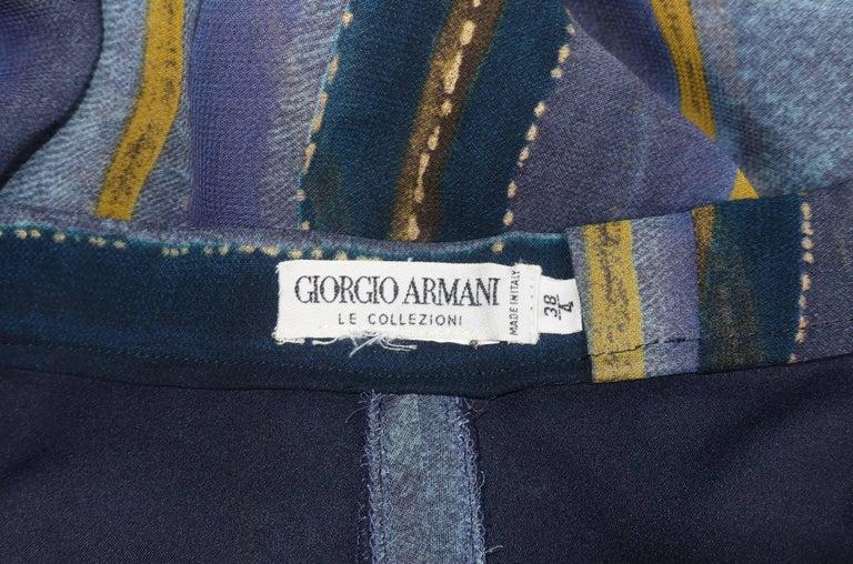 1990's Giorgio Armani Sheer Silk Harem Sarong Style Pants For Sale 4