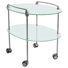 1990s Glass Serving Trolley MYRIADES by D'Orbino and Lomazzi for Ligne Roset