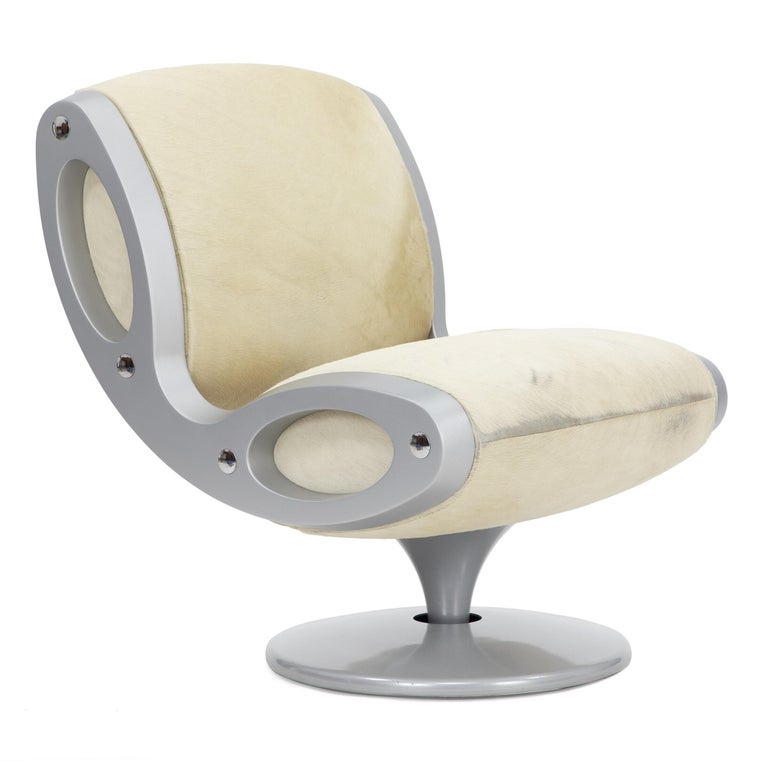 Italian 1990s Gluon Lounge Swivel Chair by Marc Newson for Moroso For Sale