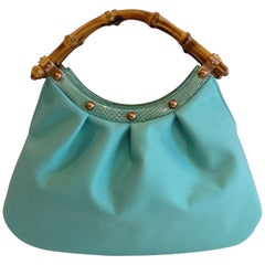 Gucci 1990s Bamboo Handle Mini Hobo Bag