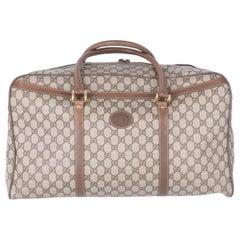 1990s Gucci GG Monogram Canvas Travel Bag