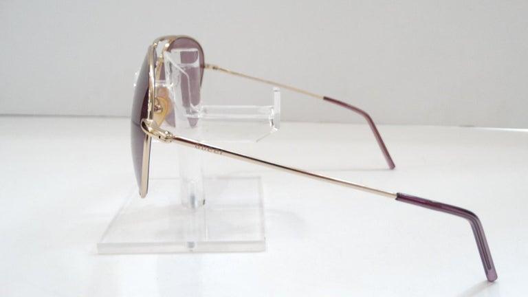 Gucci 1990s Purple Lens Aviators 2