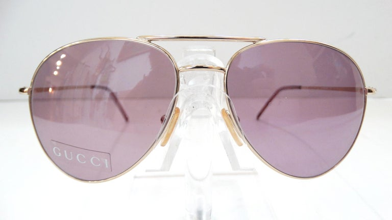 Gucci 1990s Purple Lens Aviators 4