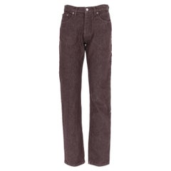 1990s Helmut Lang Brown Denim Trousers