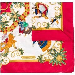 "1990s Hermès ""Foies D'hiver"" Silk Scarf"