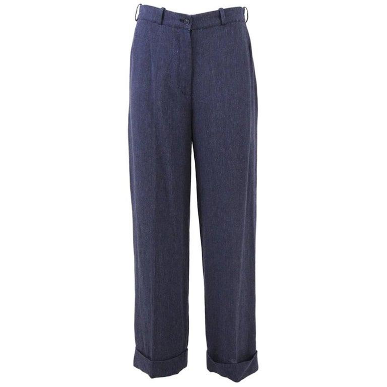 1990s Hermès Linen Pants For Sale
